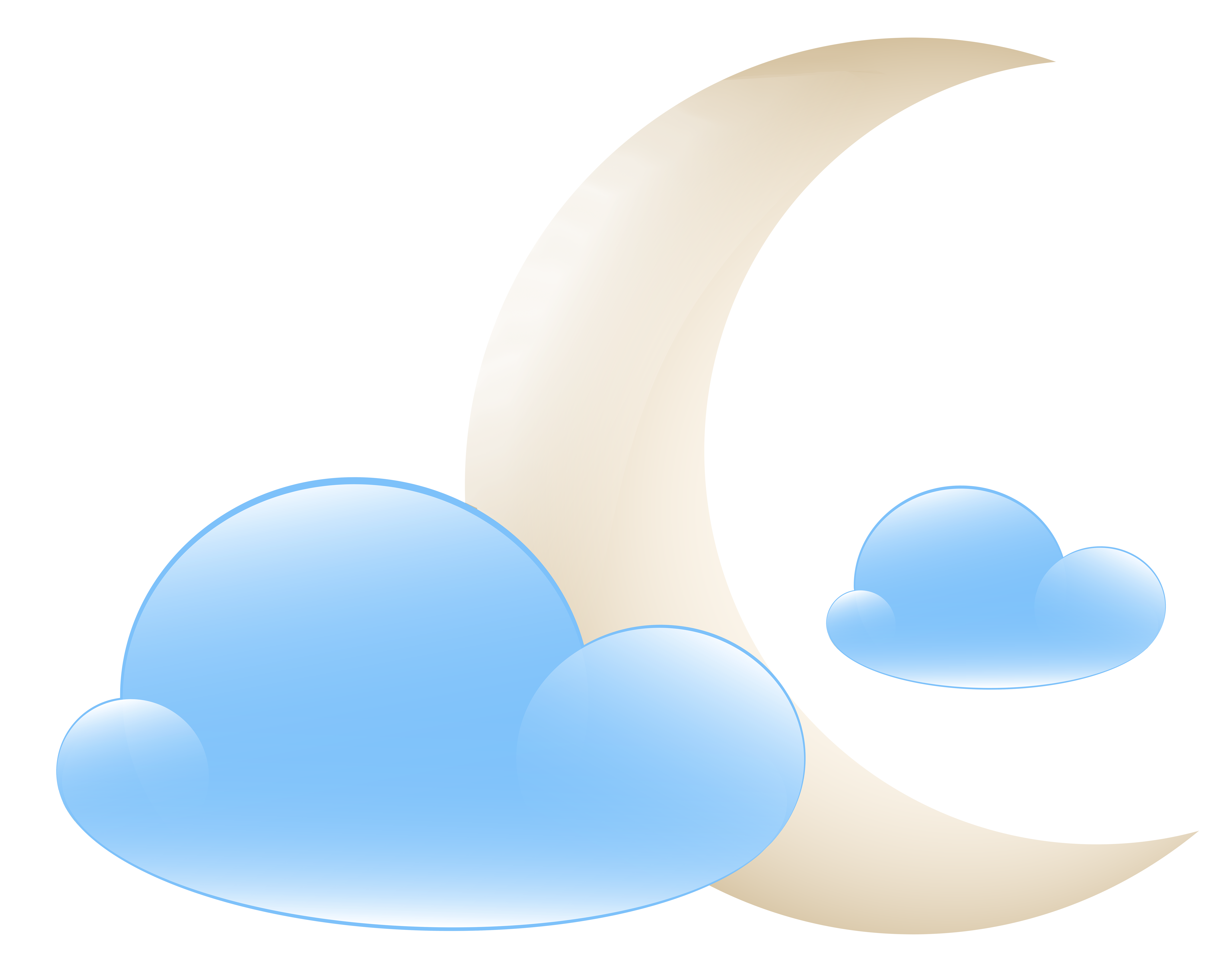 Moon with heart clipart banner royalty free library Moon with Clouds Weather Icon PNG Clip Art - Best WEB Clipart banner royalty free library