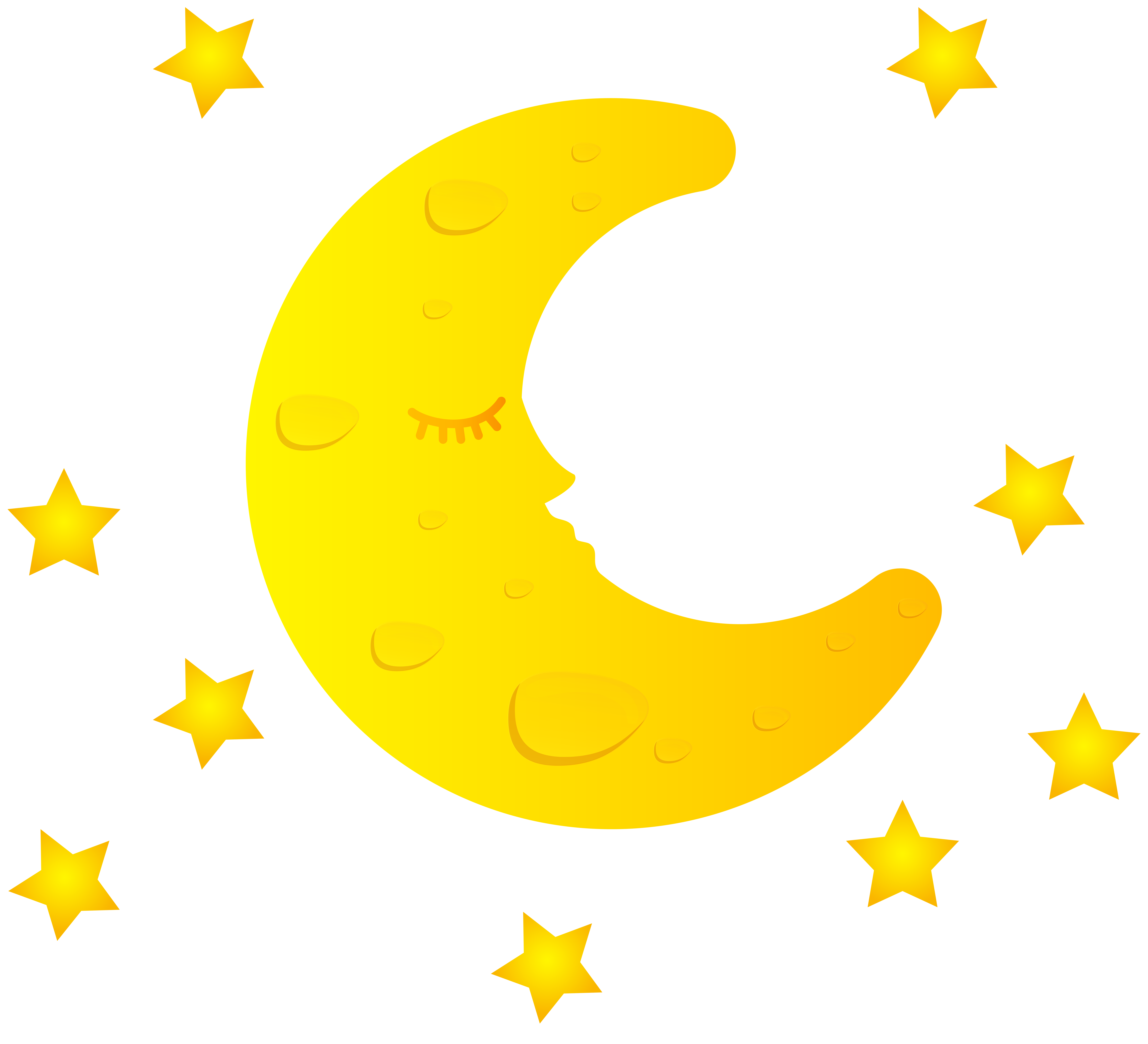 Sun moon stars free clipart graphic free Moon Free PNG Clip Art Image | Gallery Yopriceville - High-Quality ... graphic free