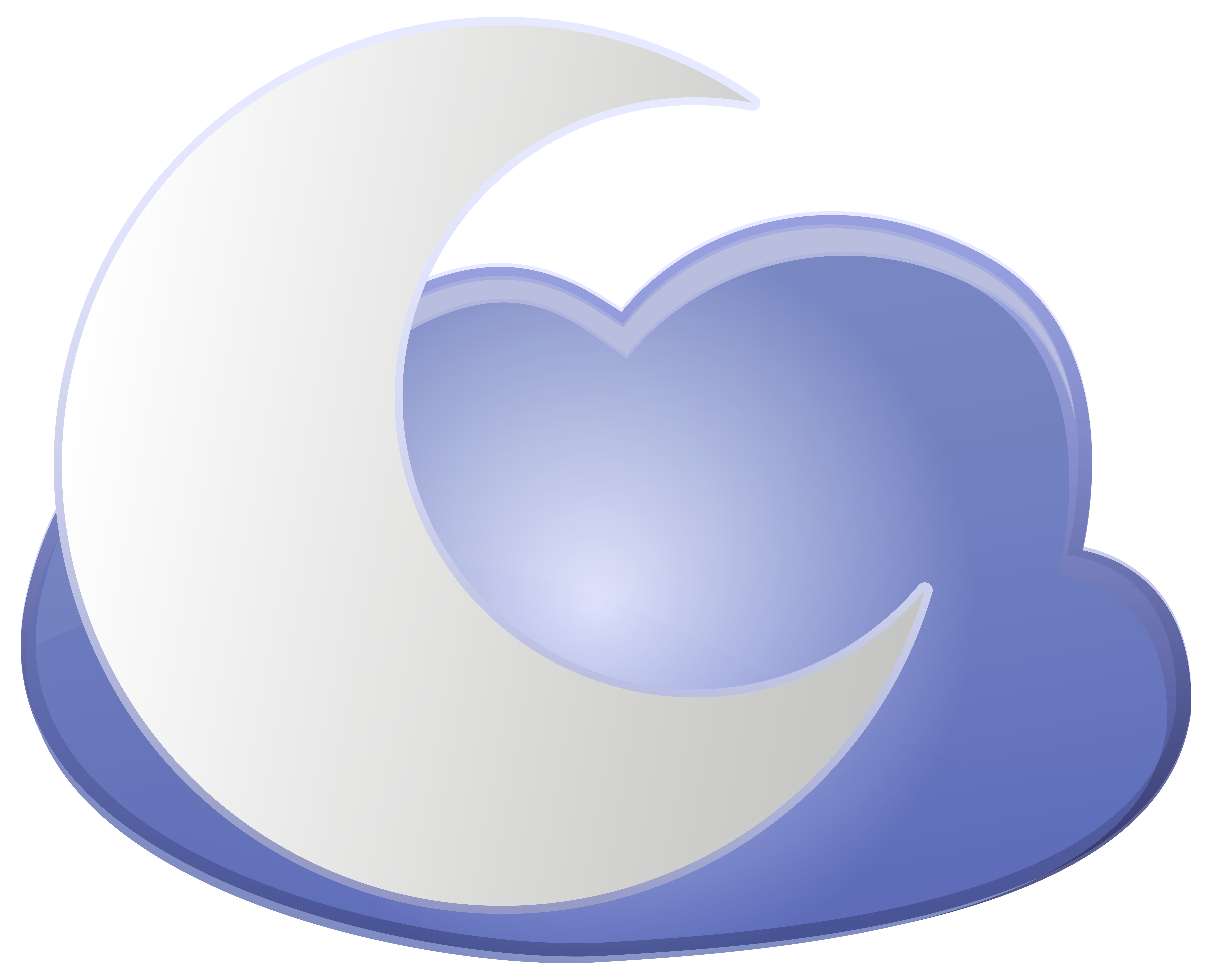 Moon with heart clipart clip transparent library Cloud and Moon Weather Icon PNG Clip Art - Best WEB Clipart clip transparent library