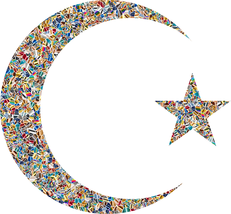 Star and moon clipart picture download Clipart - Psychedelic Tiled Crescent Moon And Star picture download