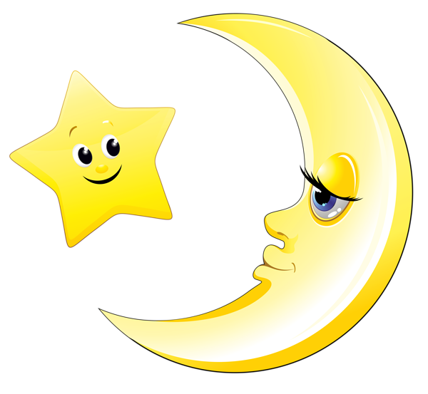 Moon and star clipart clipart stock Transparent Cute Moon and Star Clipart Picture | Клипарты ... clipart stock