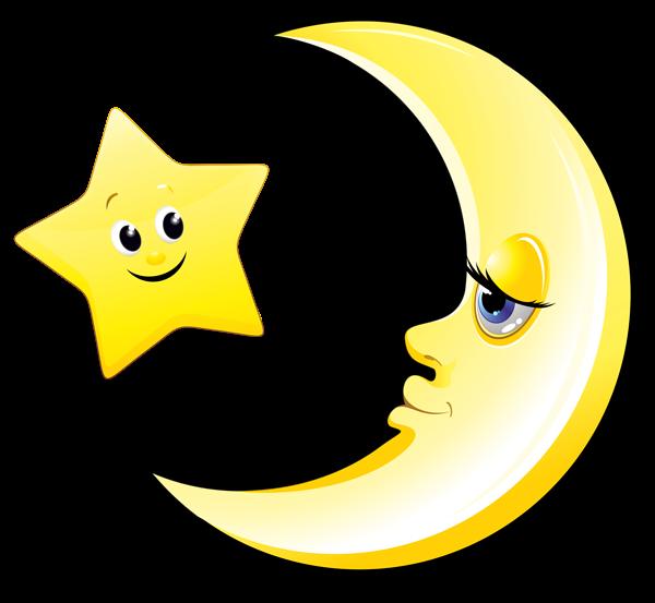 Preschool star clipart picture black and white Transparent Cute Moon and Star Clipart Picture | Клипарты ... picture black and white
