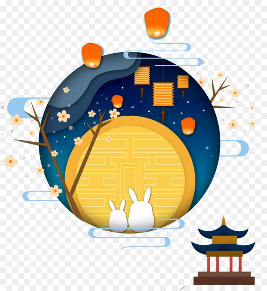 Moon festival clipart image transparent library Moon Festival clipart - Mooncake, Orange, Illustration, transparent ... image transparent library