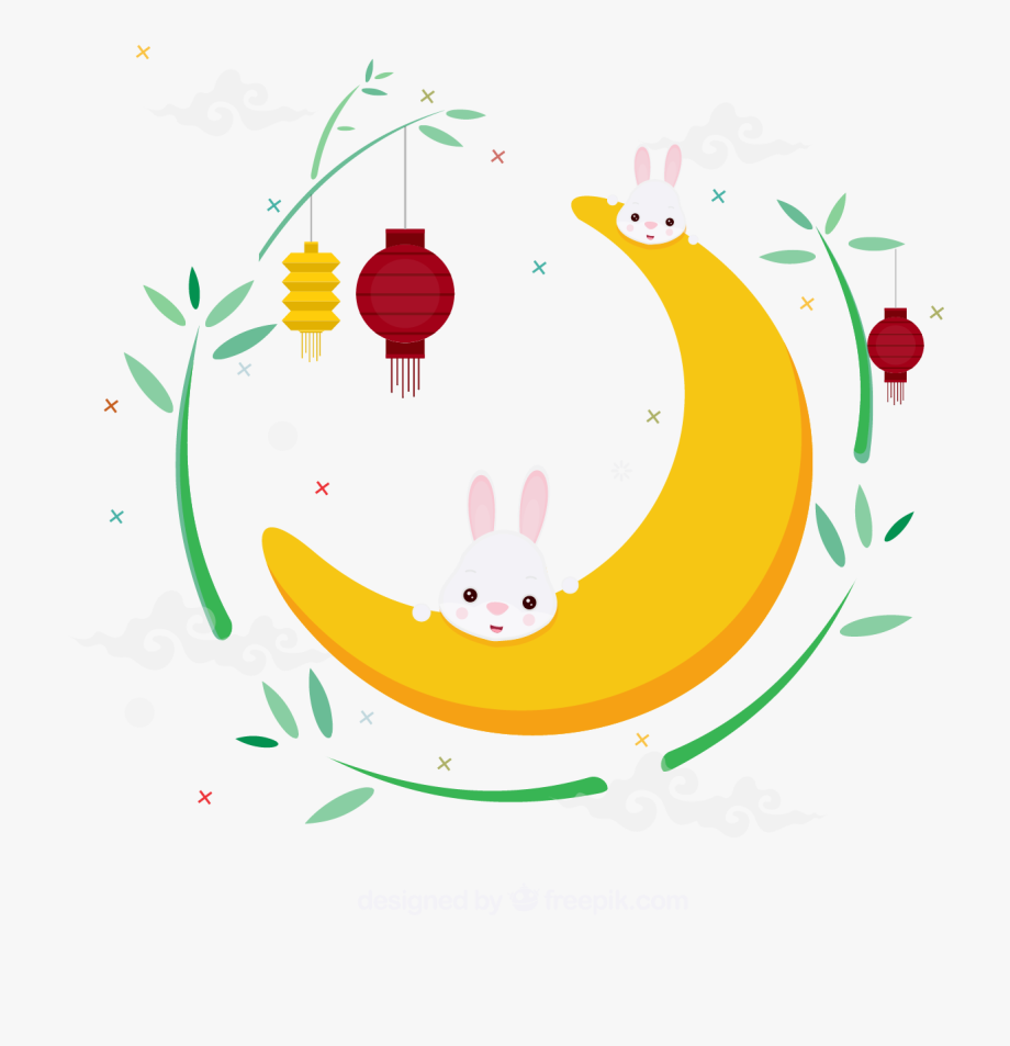 Moon festival clipart clip royalty free download M#autumn Festival Moon Rabbit Illustration - Mid Autumn Festival ... clip royalty free download