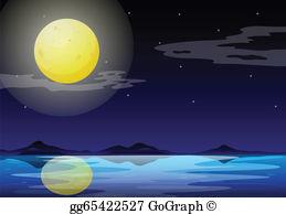 Moon light clipart image royalty free stock Moonlight Clip Art - Royalty Free - GoGraph image royalty free stock