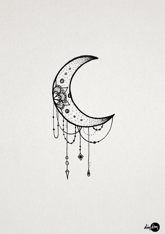 Moon tattoo clipart vector royalty free library 20 Creative Feminine Moon Tattoo Designs   tattoo ideas   Unicorn ... vector royalty free library