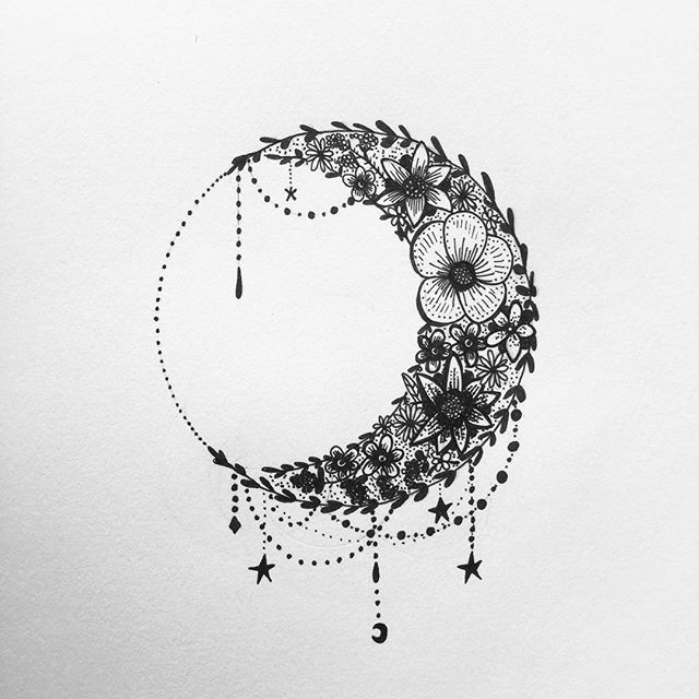 Moon tattoo clipart jpg royalty free 64+ Beautiful Crescent Moon Tattoos With Meaning jpg royalty free