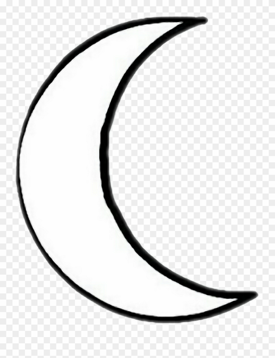 Moon tattoo clipart stock Report Abuse - Crescent Moon Outline Tattoo Clipart (#1585962 ... stock