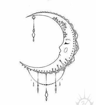Moon tattoo clipart graphic transparent 64+ Beautiful Crescent Moon Tattoos With Meaning graphic transparent