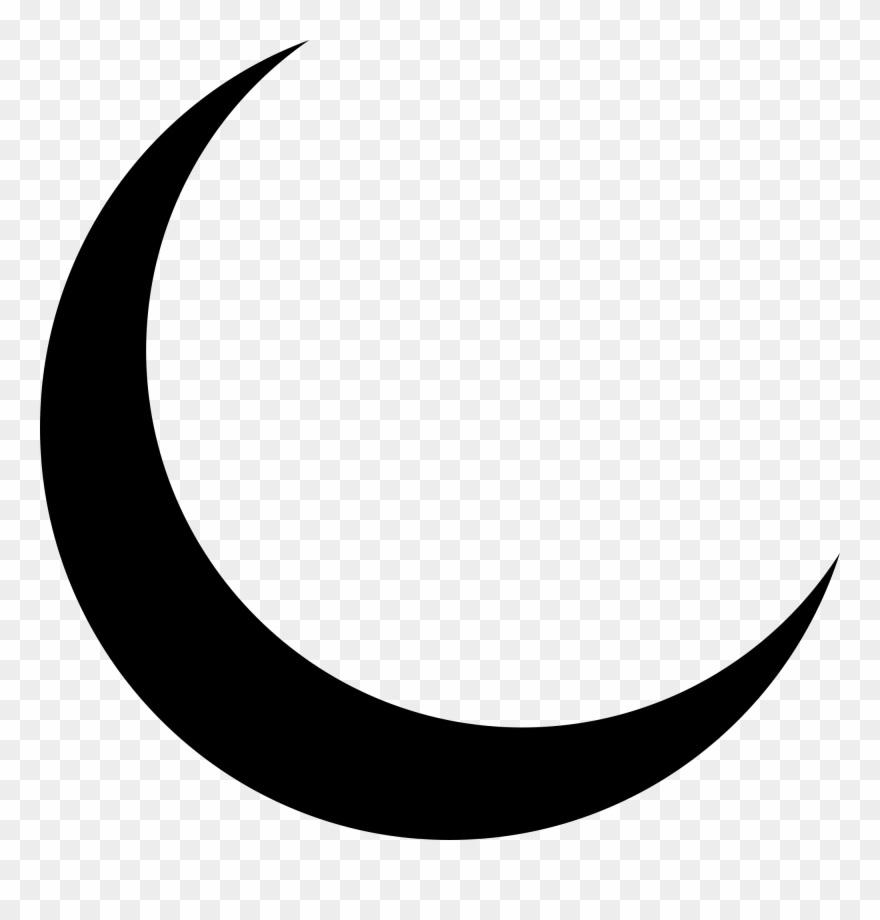 Moon vector clipart png black and white stock Crescent Moon Clipart Png - Moon Vector Transparent Png (#44630 ... png black and white stock