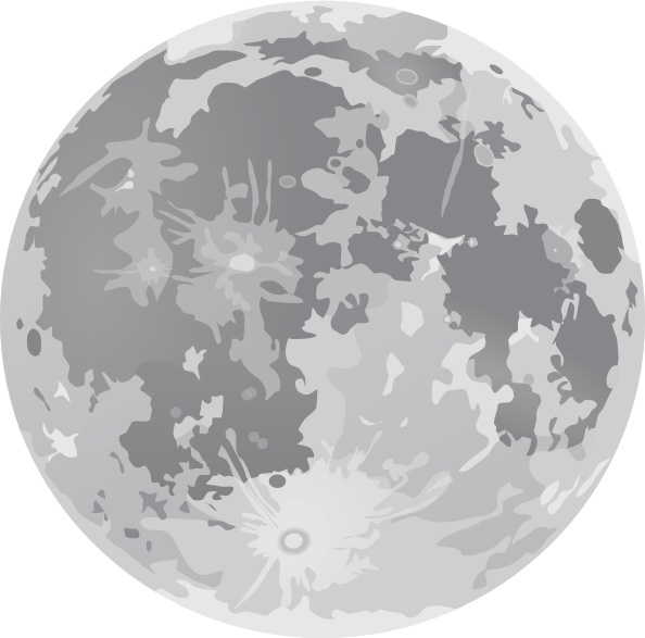 Moon vector clipart picture download Full Moon clip art Free vector in Open office drawing svg ( .svg ... picture download