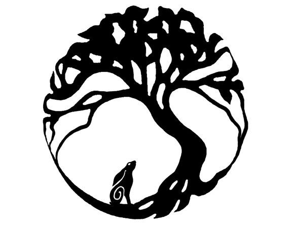 Moon with your butt black & white clipart image library download Hare moon gazing tree of life design. Vinyl self by UKArtist ... image library download