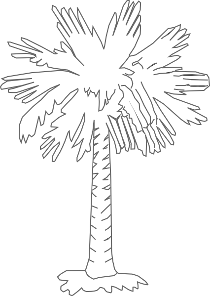 Moon with your butt black & white clipart picture free South Carolina Palmetto Logo | Palmetto Tree Clear clip art ... picture free