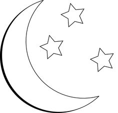 Moon with your butt black & white clipart banner black and white 40 Best Half Moon And Stars Tattoo Outlines images in 2017 ... banner black and white