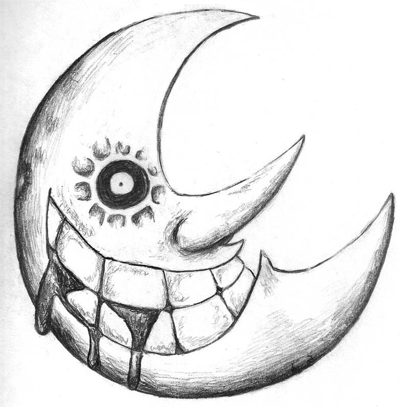 Moon with your butt black & white clipart clip art black and white library Soul eater moon | Just draw. | Soul eater death, Soul eater ... clip art black and white library