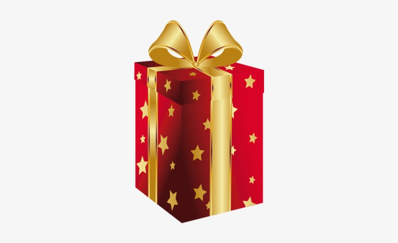 Mo+-os de regalo clipart image download Red Present With Gold Bow Clipart Regalo Png, Moños - Clip ... image download