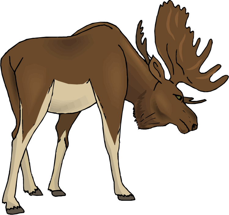 Moose fighting clipart jpg Moose clip art free clipart images 2 - ClipartBarn jpg