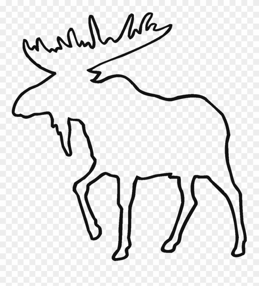 Moose outline clipart clip black and white Clip Art Animal - Moose Outline - Png Download (#334979) - PinClipart clip black and white