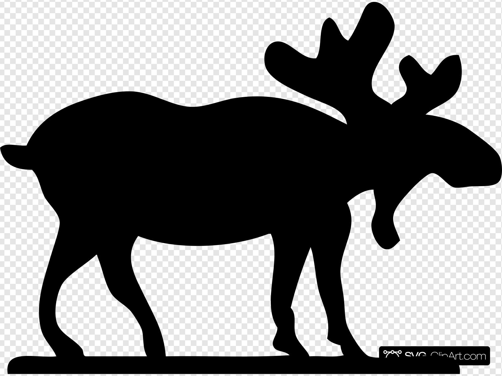 Moose outline clipart free stock Moose Sihouette Clip art, Icon and SVG - SVG Clipart free stock