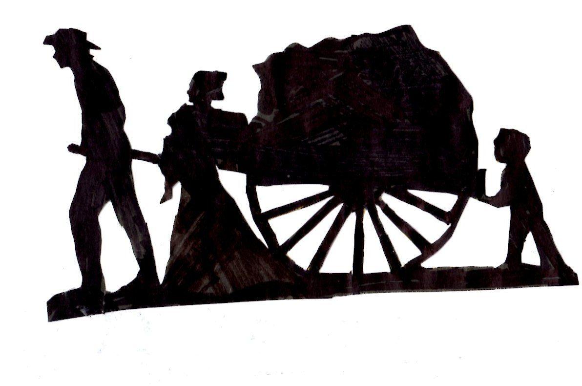 Mormon handcart clipart png Handcarts to Zion | Pioneer trek | Pioneer trek, Pioneer day ... png
