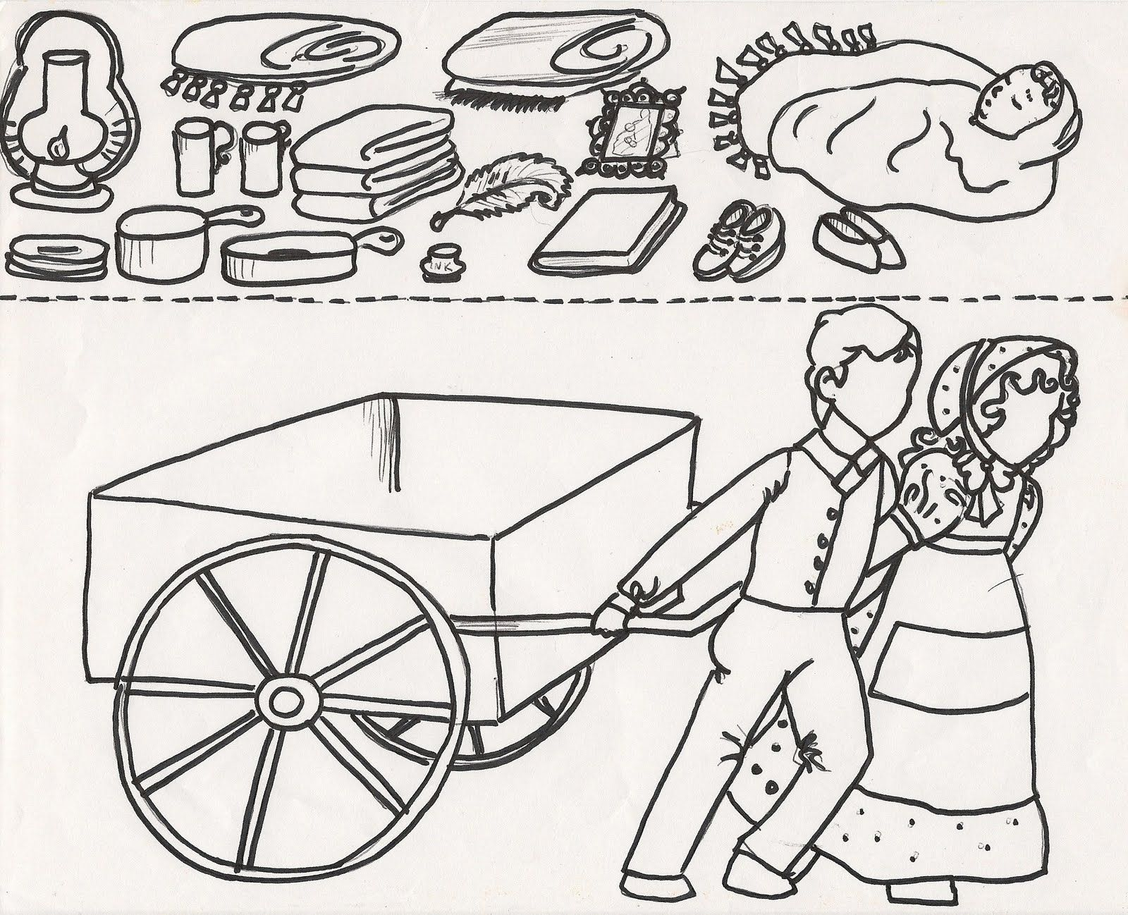 Mormon handcart clipart free pioneer handcart clipart - Google Search | Young Women Ideas ... free