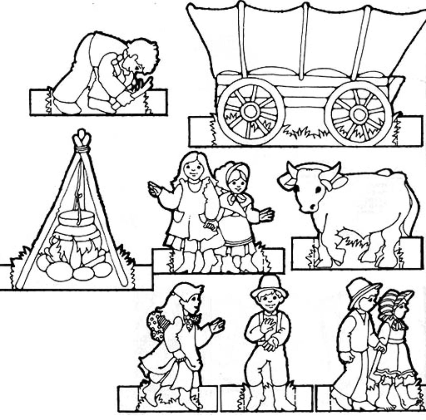 Pioneer children clipart