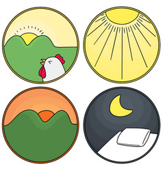 Morning afternoon evening night clipart black and white download Morning Afternoon Night Icons Vector Images (41) black and white download