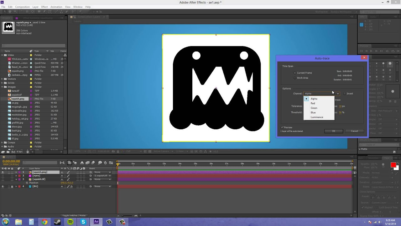 Morphing cliparts after effects jpg stock After Effects CS6 Tutorial - 59 - Auto Trace Introduction jpg stock