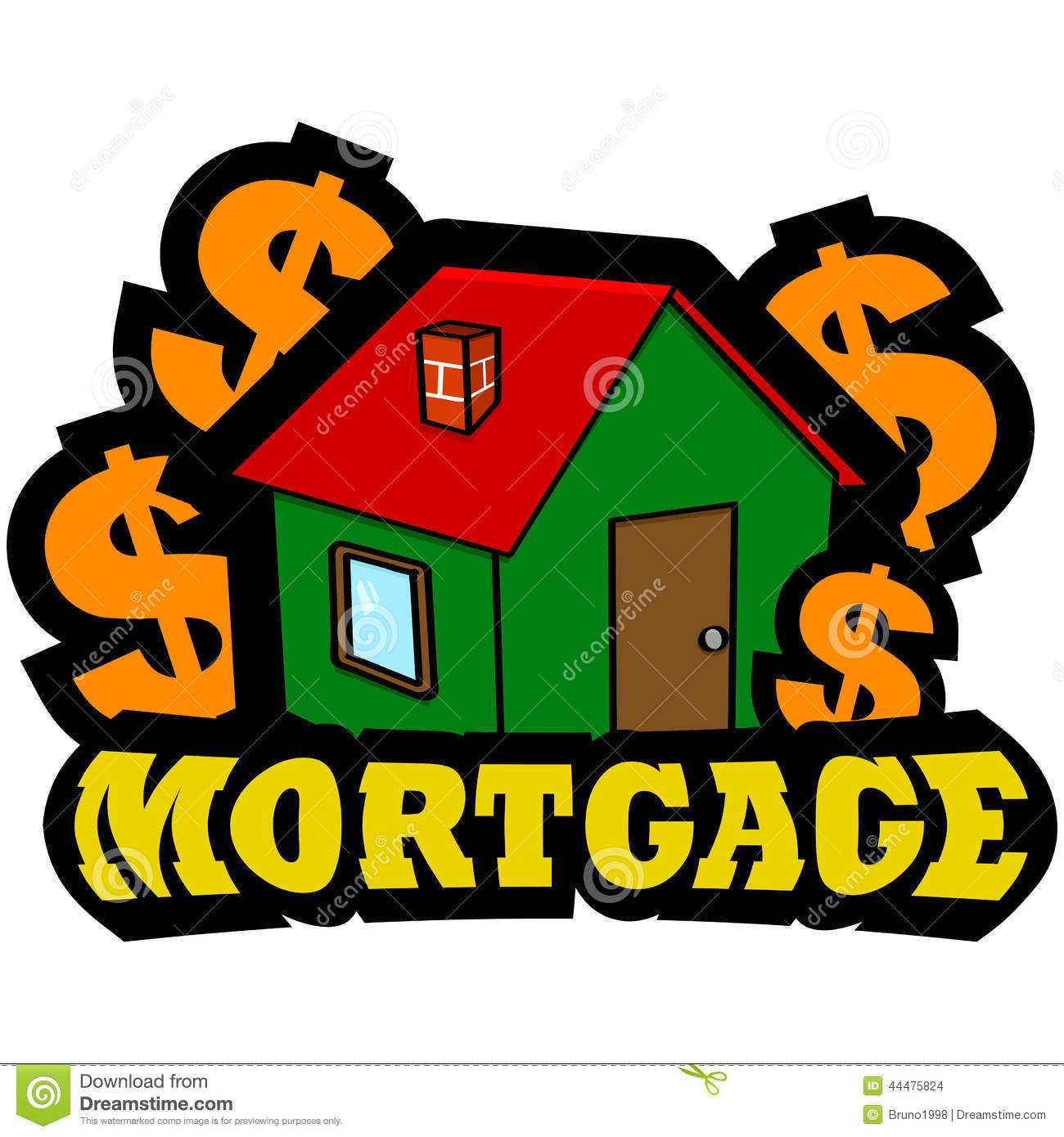 Mortgage clipart free picture black and white stock Mortgage Clip Art Free | Clipart Panda - Free Clipart Images picture black and white stock