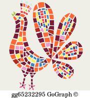 Mosaics clipart transparent stock Mosaic Clip Art - Royalty Free - GoGraph transparent stock
