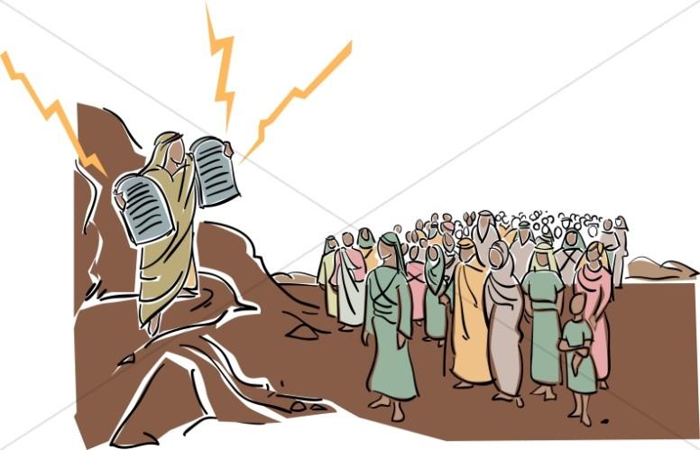 Moses clipart images png transparent download Moses Announces God\'s Commandments | Moses Clipart png transparent download