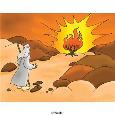 Moshe clipart clip royalty free stock Exodus from Egypt: Moshe at Burning Bush | Walder Education clip royalty free stock