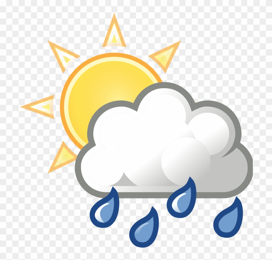 Mostly clipart banner royalty free library Rain Clipart Partly Cloudy - Mostly Cloudy With Showers ... banner royalty free library