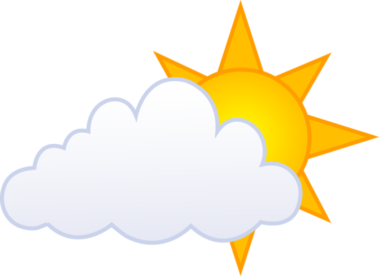 Mostly clipart picture free Sunny Cloud Clipart - Clip Art Library picture free