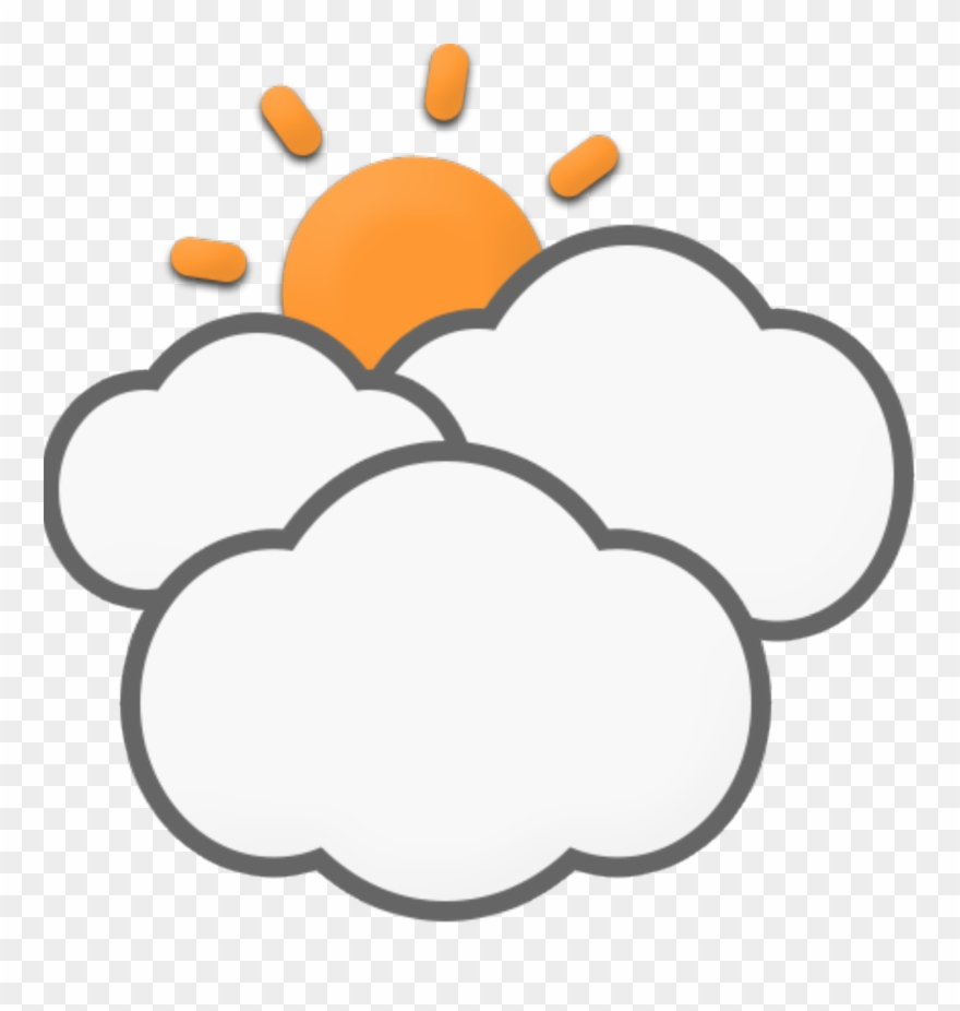 Mostly clipart jpg freeuse Mostly Cloudy - Cloud Clipart (#98303) - PinClipart jpg freeuse