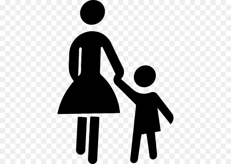 Mother and father holding hands free clipart