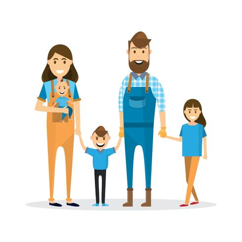 Mother and father holding hands free clipart svg Happy family. Father, mother, baby, son and daughter ... svg