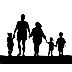 Mother and father holding hands free clipart image free stock Family Holding Hands Silhouette clipart, cliparts of Family ... image free stock