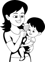 Mother hugging children clipart black and white clipart transparent library Free Black Mother Cliparts, Download Free Clip Art, Free ... clipart transparent library