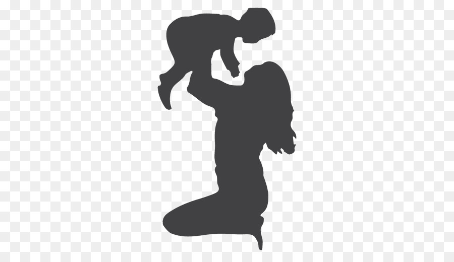 Mother hugging children clipart black and white vector Mother Cartoon clipart - Mother, Child, Gift, transparent ... vector