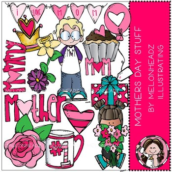 Mother\'s Day Stuff clip art - Melonheadz Clipart by ... clip black and white download