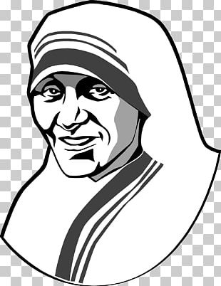 Mother theresa hat clipart black and white png library stock Mother Teresa Kolkata Prayer Magnificat Canonization PNG ... png library stock