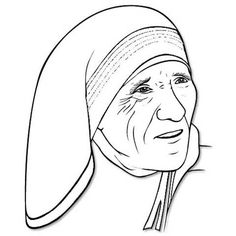 Mother theresa hat clipart black and white image library download 31 Best Dessin Mother teresa images in 2016 | Coloring books ... image library download