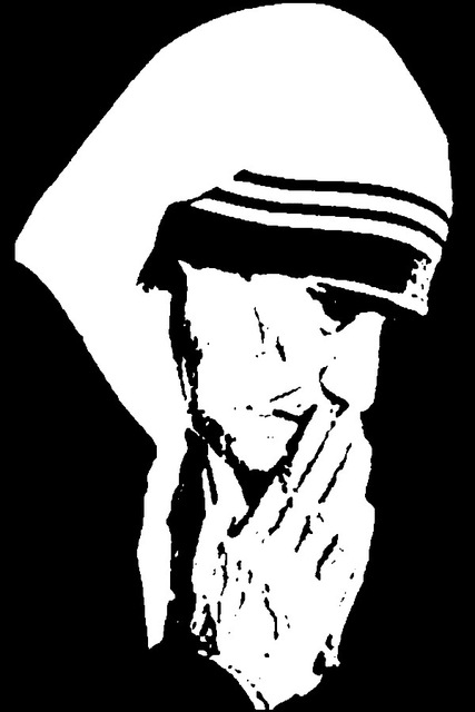 Mother theresa hat clipart black and white banner black and white stock Mother Sketch Images at PaintingValley.com | Explore ... banner black and white stock