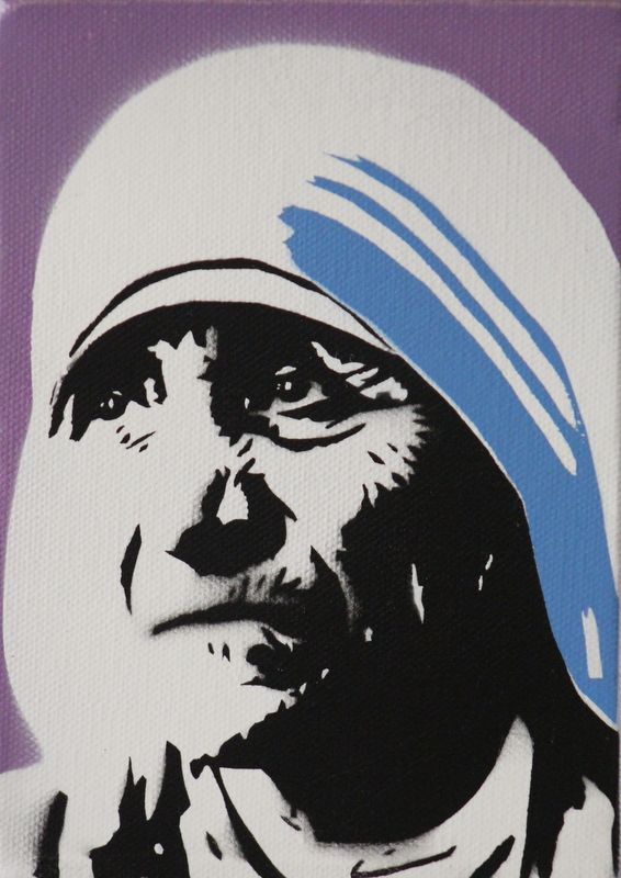 Mother theresa hat clipart black and white freeuse download Mother Teresa | Pinspiration. in 2019 | Mother teresa ... freeuse download