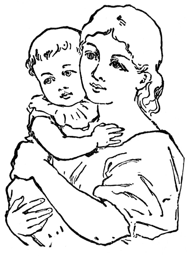 Mother with kids clipart graphic royalty free stock Mother's Day Mother And Child Clipart - Clipart Kid graphic royalty free stock