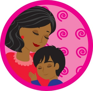 Mother with kids clipart graphic stock Mother's Day Mother And Child Clipart - Clipart Kid graphic stock