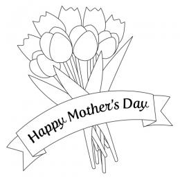 Mothers day breakfast clipart black and white free banner free stock Mother\'s Day Clip Art | LoveToKnow banner free stock