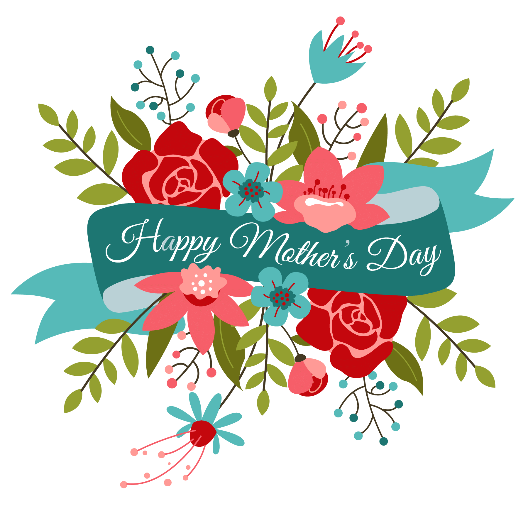 Mothers day clipart flowers jpg black and white download Happy Mothers Day Bouquet | momu | Happy mothers day clipart ... jpg black and white download