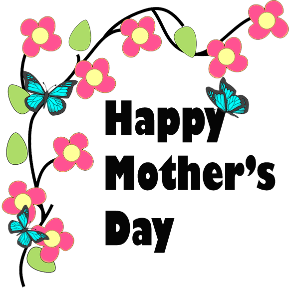 Mother's day flower clipart clipart black and white download Mothers Day Clip Art - Happy Mothers Day clipart black and white download
